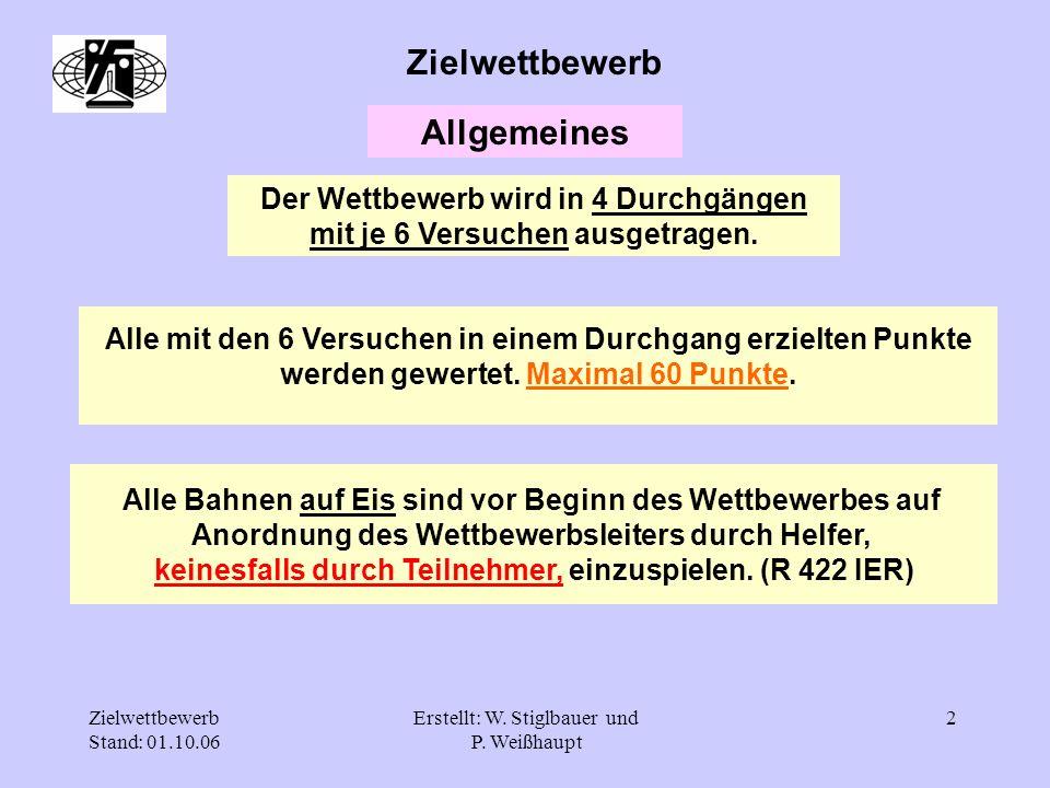 Zielwettbewerb Stand: 01.10.06 Erstellt: W. Stiglbauer und P.