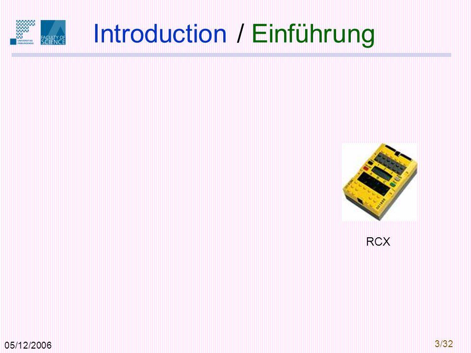 05/12/2006 3/32 Introduction / Einführung RCX