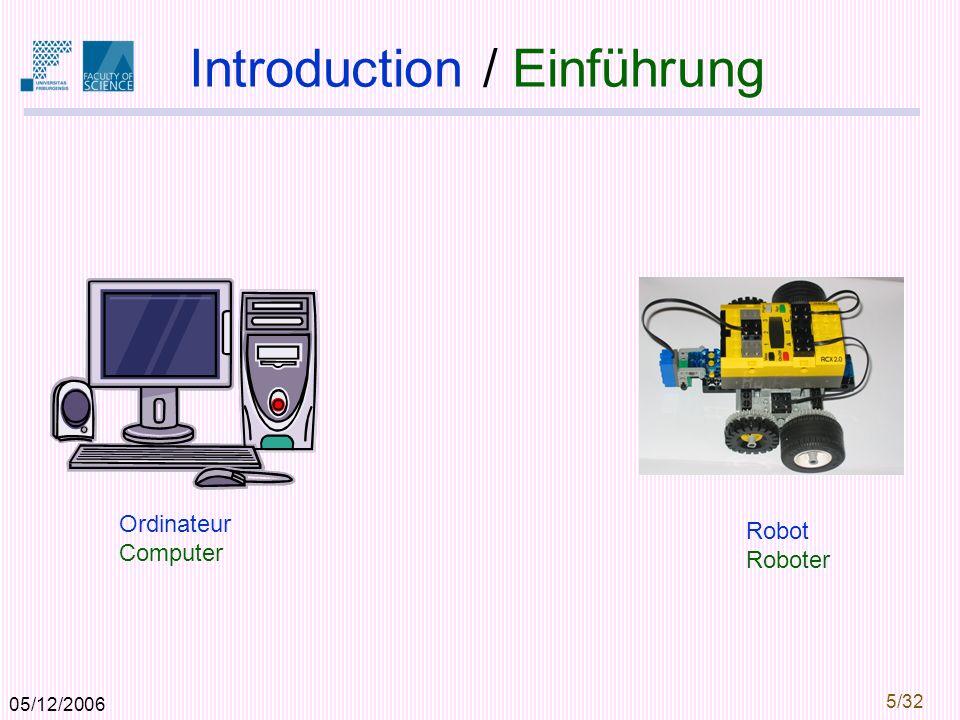05/12/2006 5/32 Introduction / Einführung Ordinateur Computer Robot Roboter