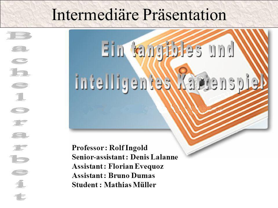 Intermediäre Präsentation Professor : Rolf Ingold Senior-assistant : Denis Lalanne Assistant : Florian Evequoz Assistant : Bruno Dumas Student : Mathi
