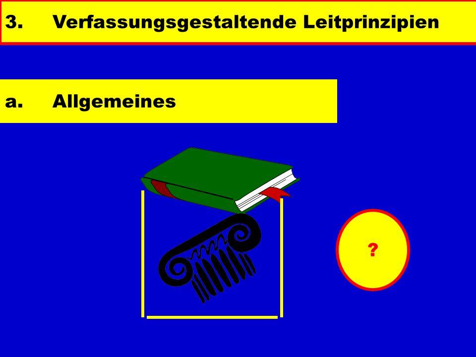 3.Verfassungsgestaltende Leitprinzipien ? a.Allgemeines