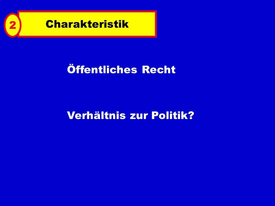 Charakteristik Öffentliches Recht Verhältnis zur Politik? 2