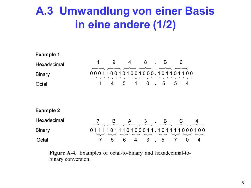 6 A.3 Umwandlung von einer Basis in eine andere (1/2)