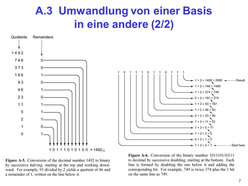 7 A.3 Umwandlung von einer Basis in eine andere (2/2)