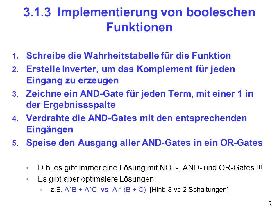 6 3.1.4 Schaltungsäquivalenz (1/3) Lemma 1.