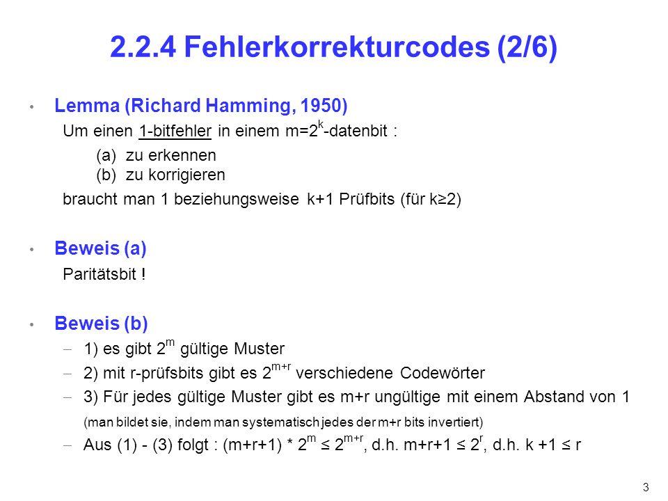 4 2.2.4 Fehlerkorrekturcodes (3/6)