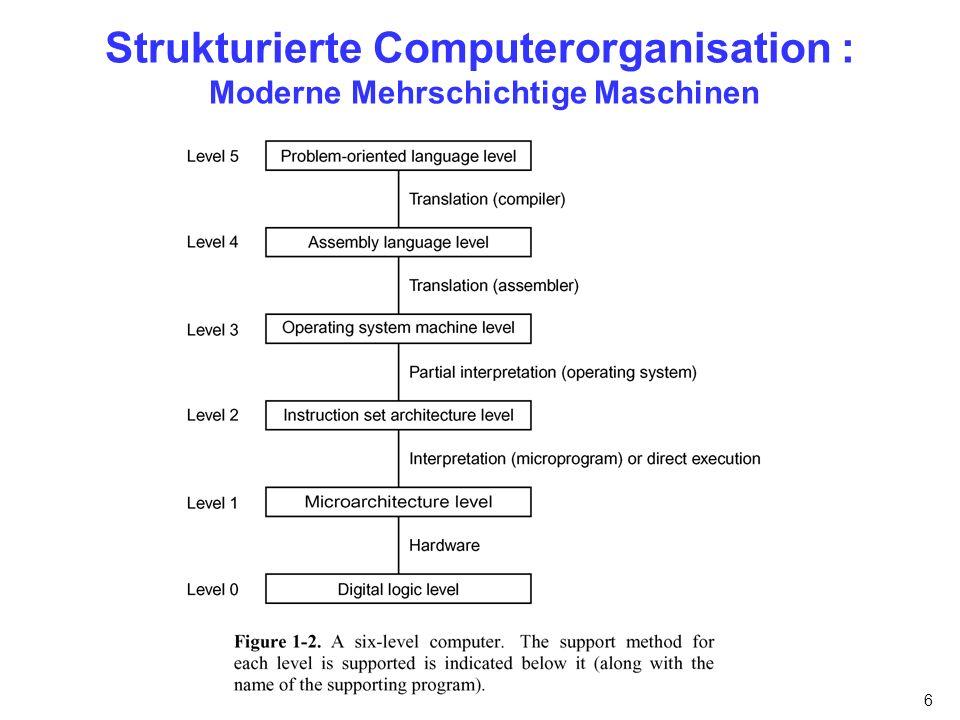 6 Strukturierte Computerorganisation : Moderne Mehrschichtige Maschinen
