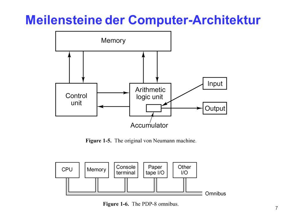 7 Meilensteine der Computer-Architektur