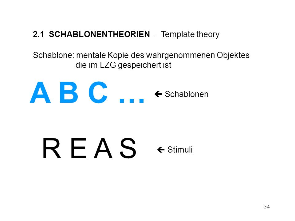 55 ABRABR R E A S Schablonen: A B C …