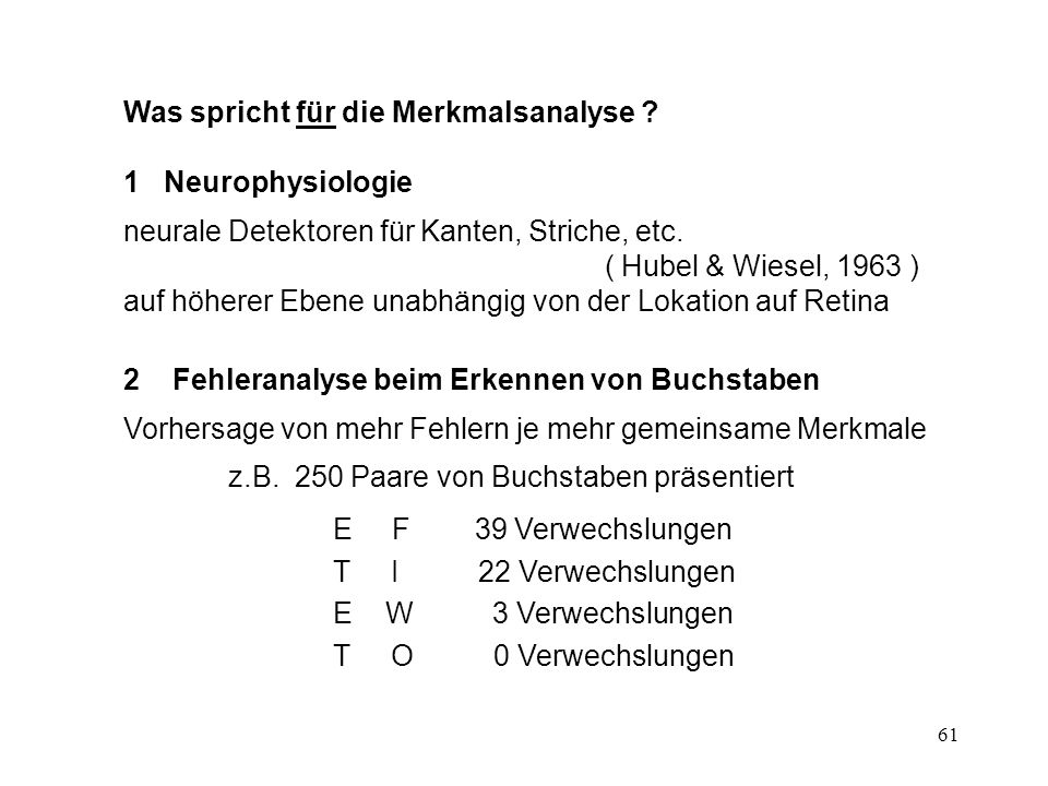 62 Probleme der Merkmalsanalyse 1Minischablonen für natürliche Formen.