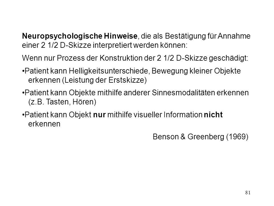 82 3.4 OBJEKTERKENNUNG Marr (1982) Biederman (1987) Kosslyn et al.