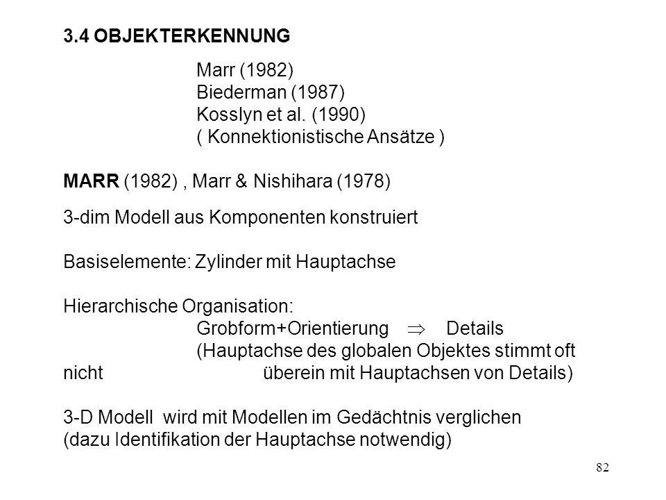 83 hierarchische Struktur des menschl Körpers Marr & Nishihara (1978)