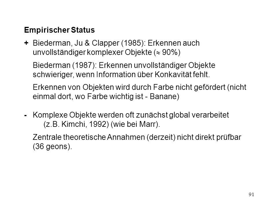 92 intakte FigurInfo über Struktur erhalten Info über Struktur nicht erhalten Biederman (1987)