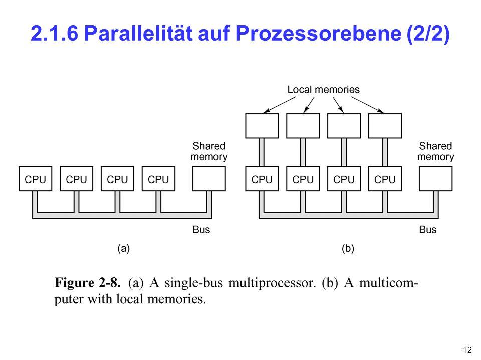 12 2.1.6 Parallelität auf Prozessorebene (2/2)