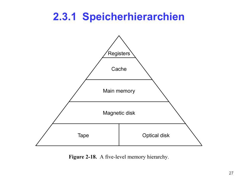27 2.3.1 Speicherhierarchien