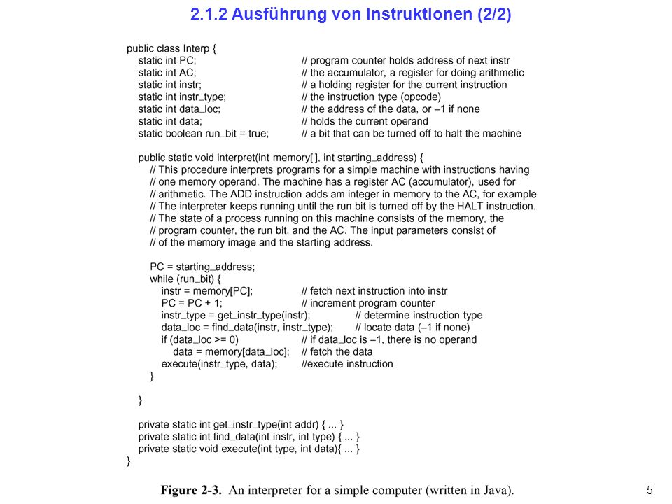 5 2.1.2 Ausführung von Instruktionen (2/2)