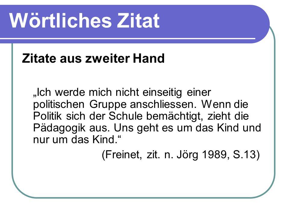 Sinngemässe Zitate von Text- passagen Bless et al.