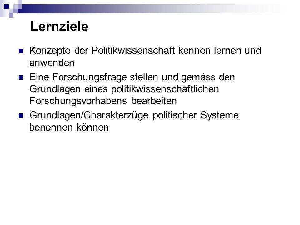 Module / Themen 1.Grundbegriffe der Politikwissenschaft 2.