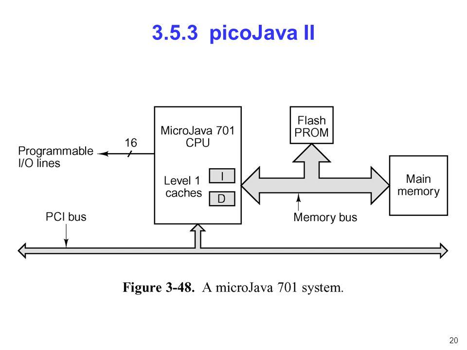 20 3.5.3 picoJava II