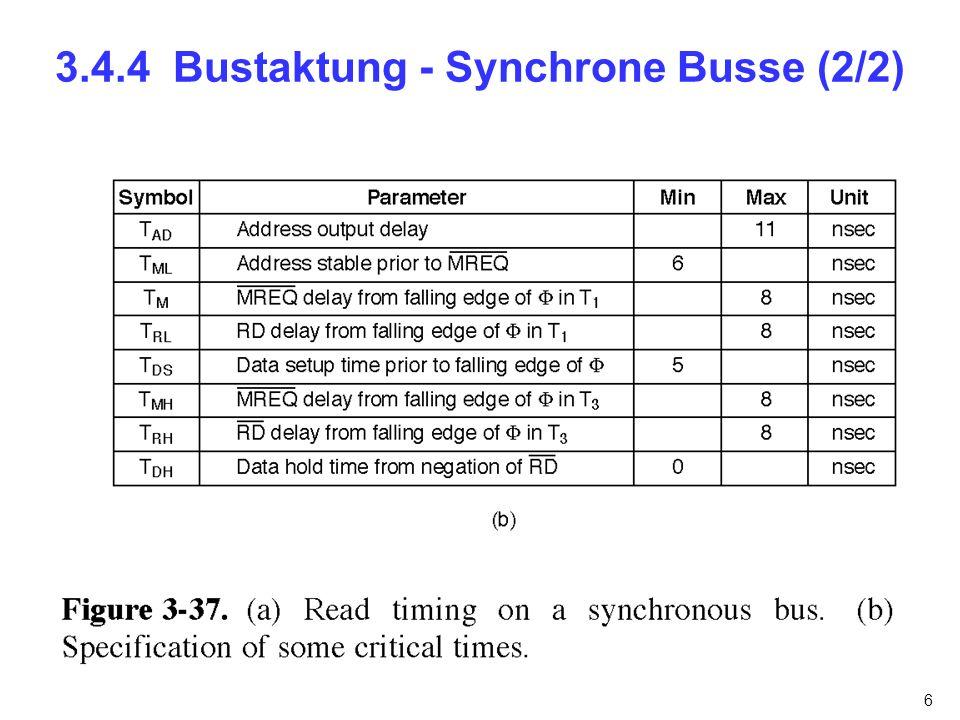 7 3.4.4 Bustaktung - Asynchrone Busse