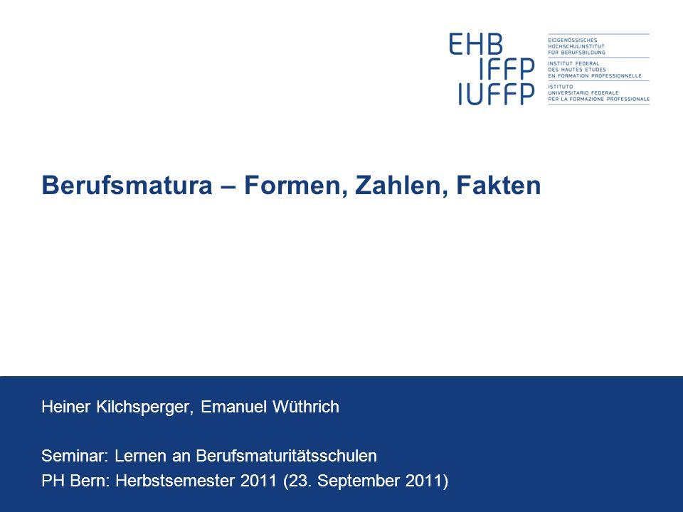 23.09.2011 12 Seminar: Lernen an Berufsmaturitätsschulen