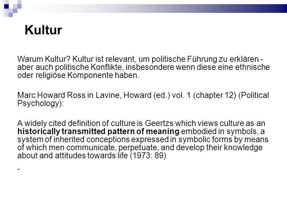 Kultur Warum Kultur.