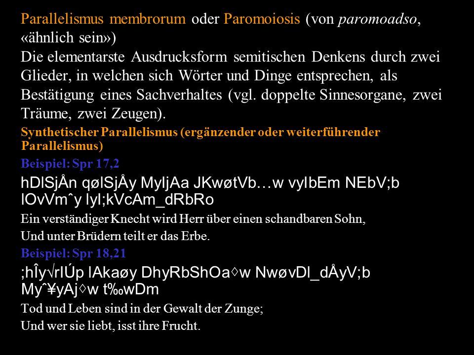 Asyndese («Unverbundenheit», von a, «nicht» und syndeo, «zusammenbinden») Verzicht auf verbindende Worte (Kopula, Konjunktion, Relativpronomen) zwischen Satzteilen.