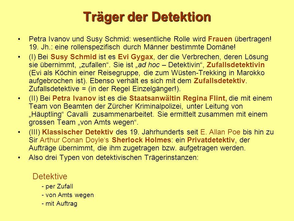 Träger der Detektion Petra Ivanov und Susy Schmid: wesentliche Rolle wird Frauen übertragen.