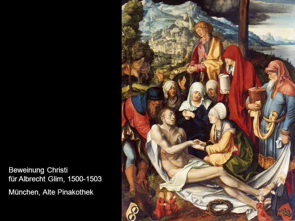 Beweinung Christi für Albrecht Glim, 1500-1503 München, Alte Pinakothek