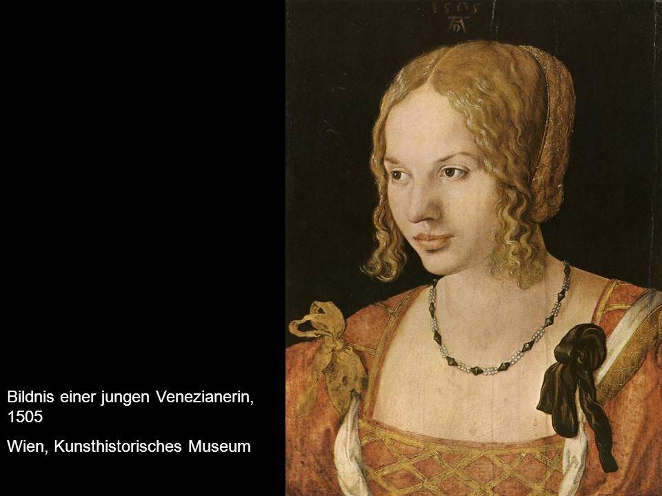 Bildnis einer jungen Venezianerin, 1505 Wien, Kunsthistorisches Museum
