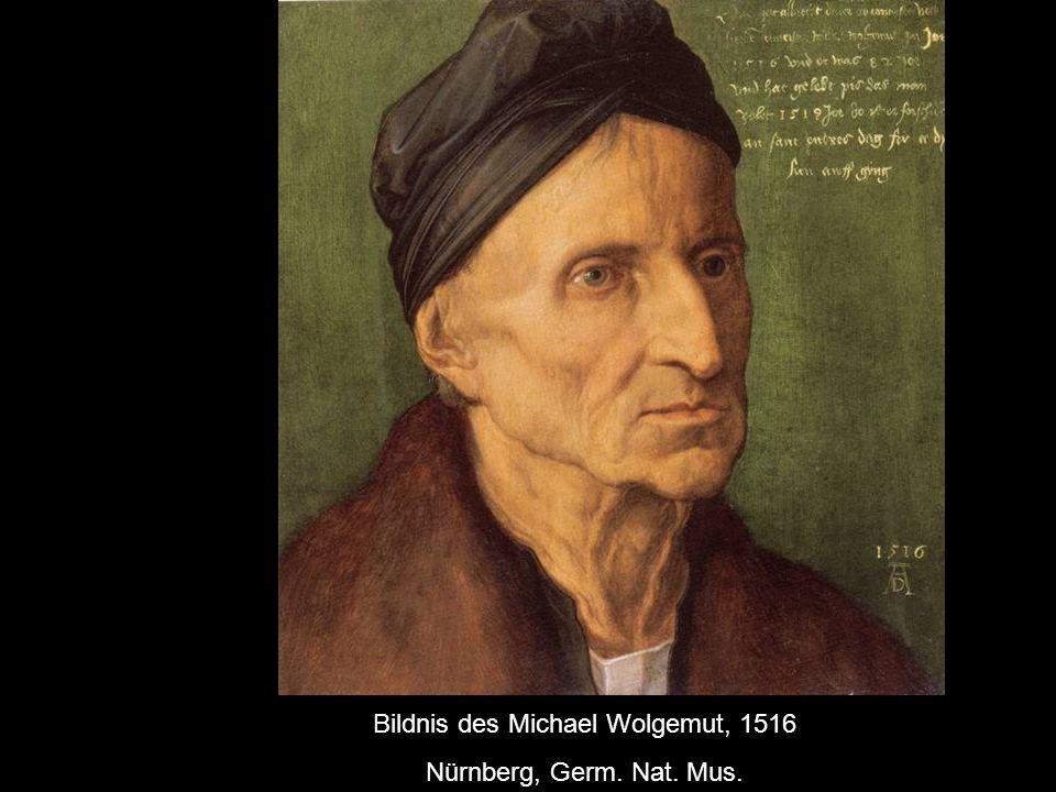 Bildnis des Michael Wolgemut, 1516 Nürnberg, Germ. Nat. Mus.