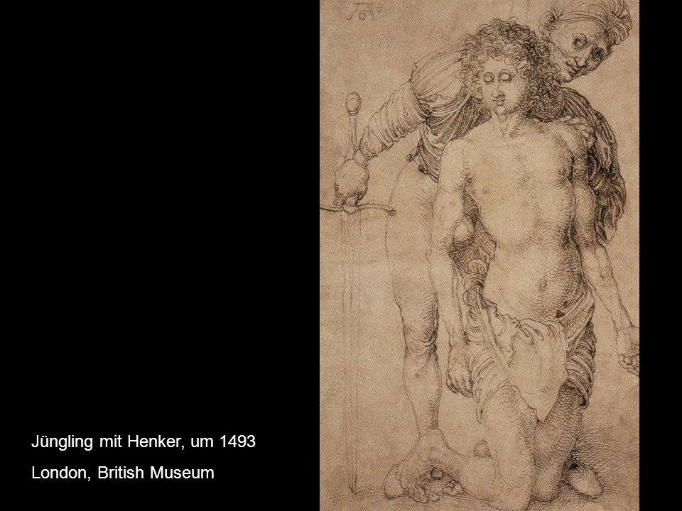 Weiblicher Akt (Badefrau) Federzeichnung, 1493