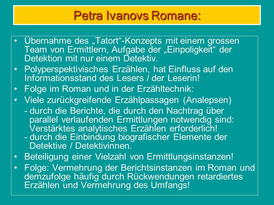 Das grosse Team Konstanz der Personen in allen bisher publizierten drei Romanen.