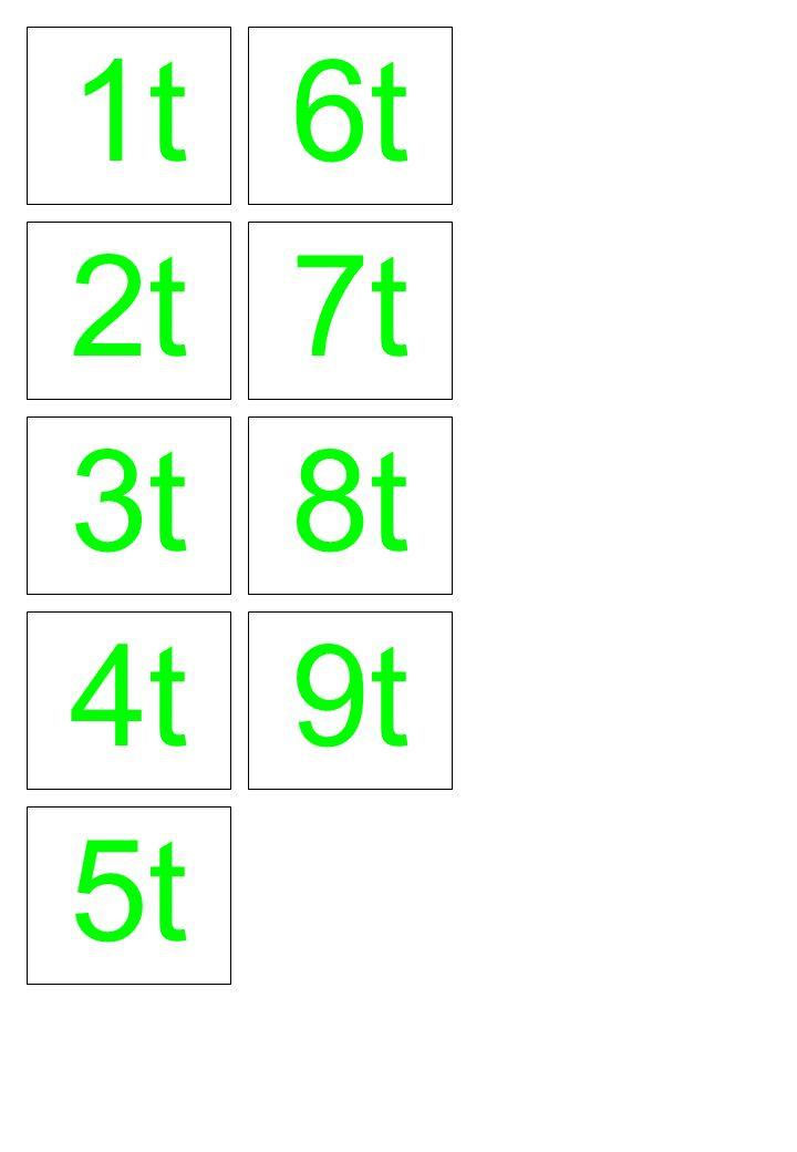 1t 2t 3t 6t 7t 8t 4t 5t 9t