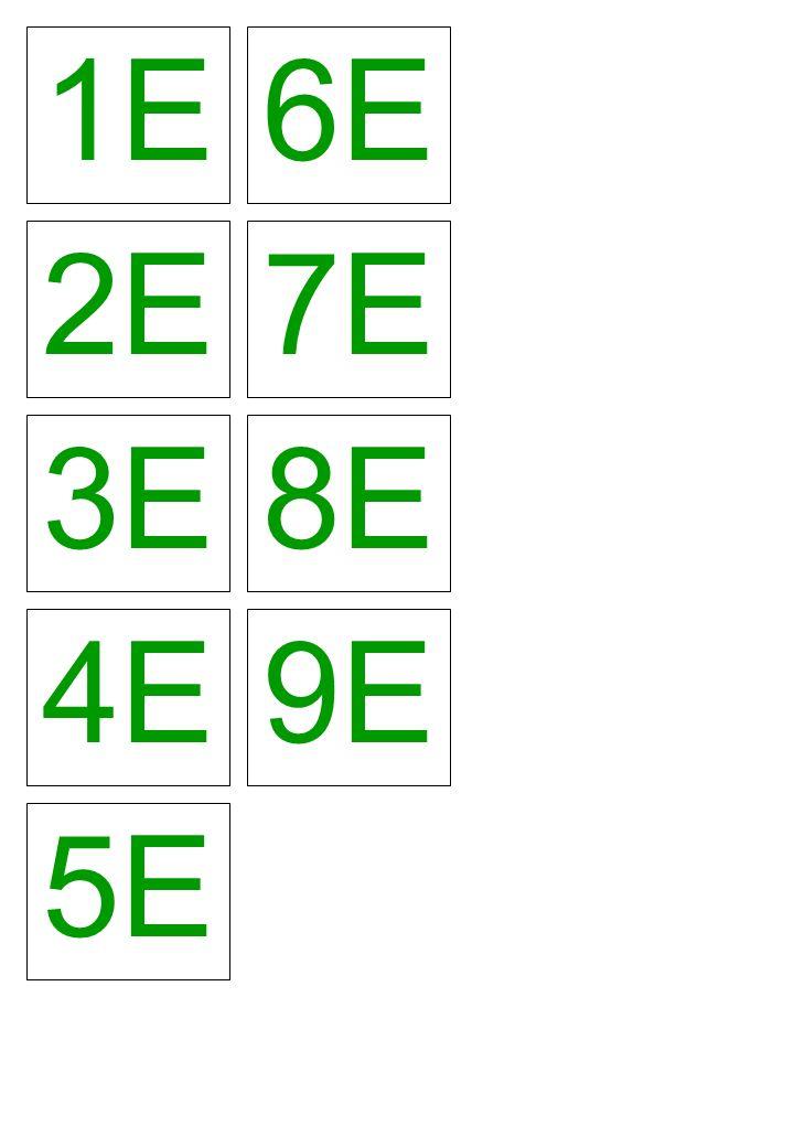 1E 2E 3E 6E 7E 8E 4E 5E 9E