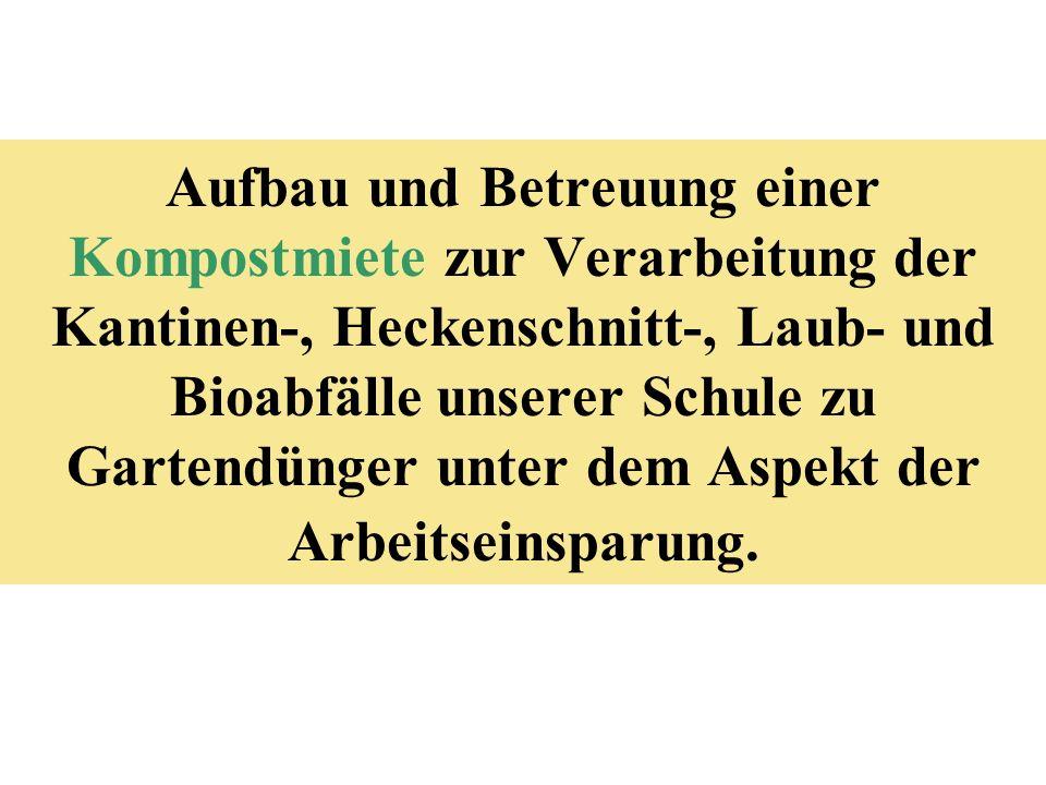 Kompost Herz und Bauch des Biogartens, nicht der Friedhof!!