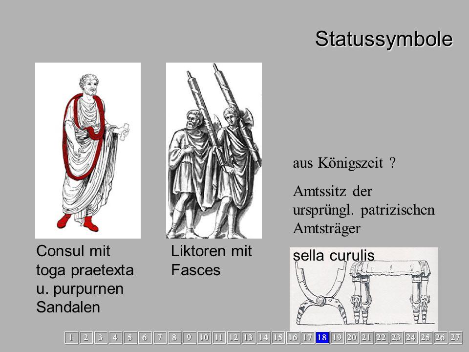 Statussymbole Statussymbole Consul mit toga praetexta u.