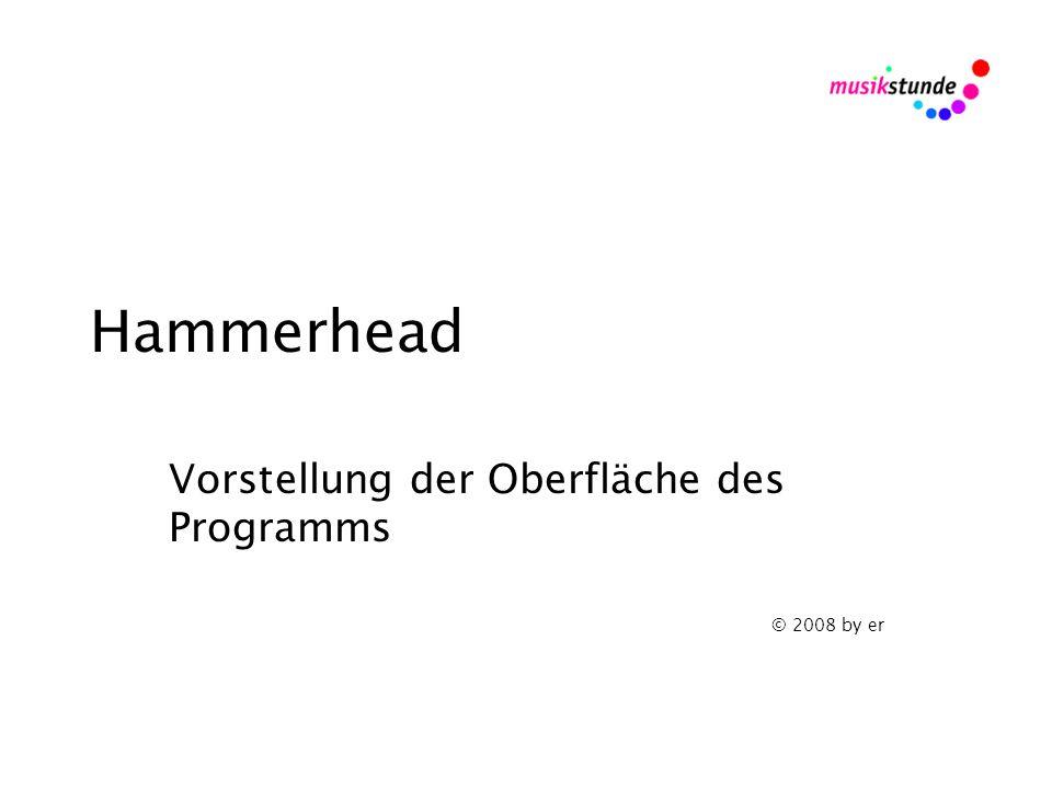 Hammerhead Vorstellung der Oberfläche des Programms © 2008 by er