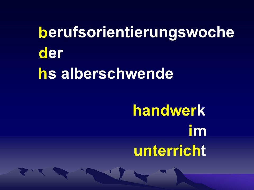 Berufsorientierungswoche HS Alberschwende Betrieb Dachdeckerei und Spenglerei Rusch Alberschwende Werkstück / Tätigkeit Stiftbox
