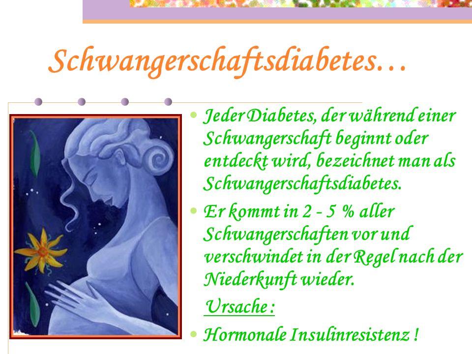 Typ 2 Altersdiabetes… Ursache : Die Hormonproduzierenden B - Zellen ermüden und es wird nicht mehr genügend Insulin produziert. Relativer Insulinmange