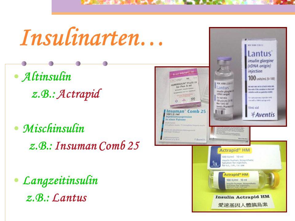 Insulin / Tabletten… Nur der Arzt verordnet das Insulin oder die Diabetes Tabletten!!! Durch den Arzt wird man auch auf die richtige Dosierung der Tab