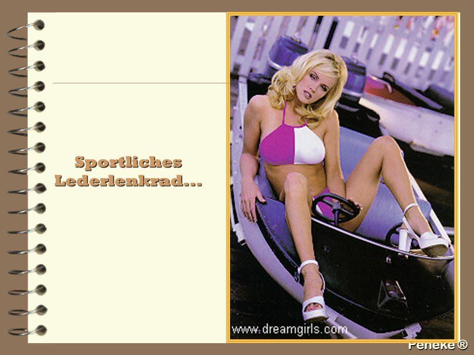 Peneke ® Sportliches Lederlenkrad...