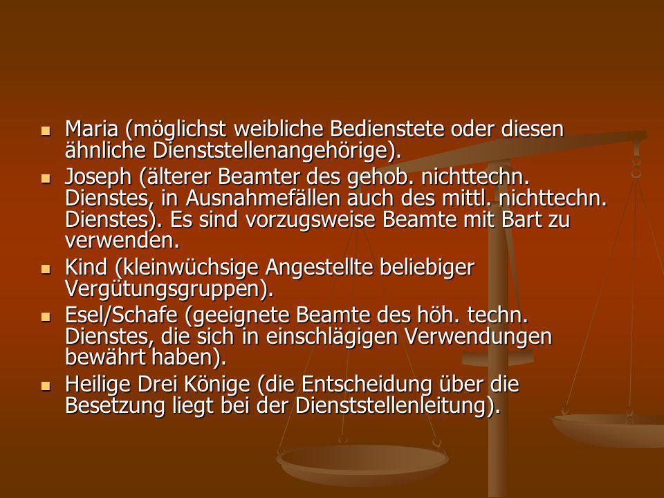 IV.Singen in dienstlichen Räumen IV.