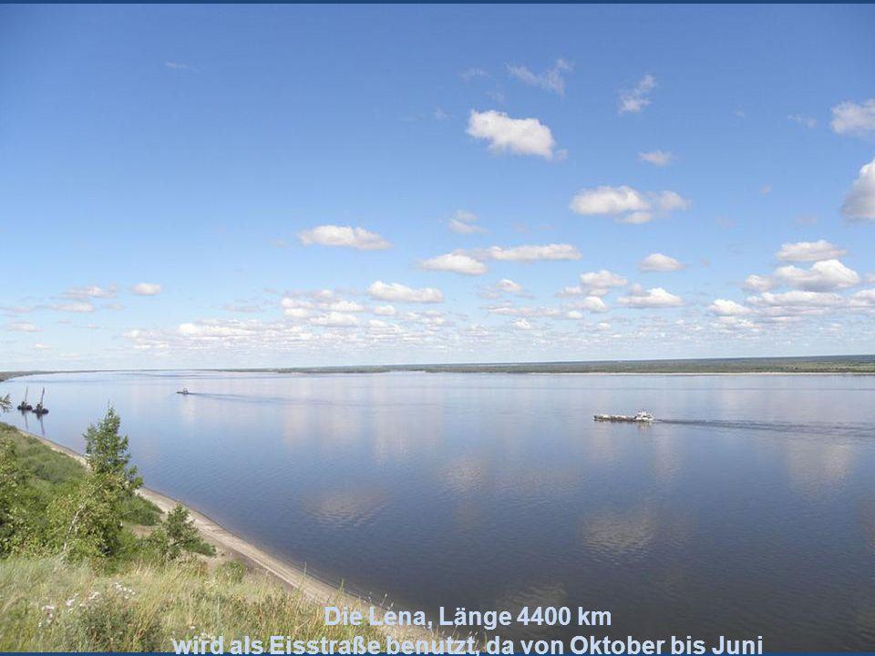 Der Jenissei Länge 4092 km Sibirischer Strom bei Krasnojarsk