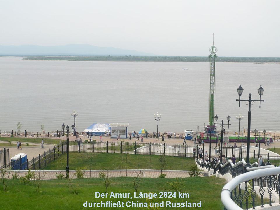 Die Lena, Länge 4400 km wird als Eisstraße benutzt, da von Oktober bis Juni zugefroren