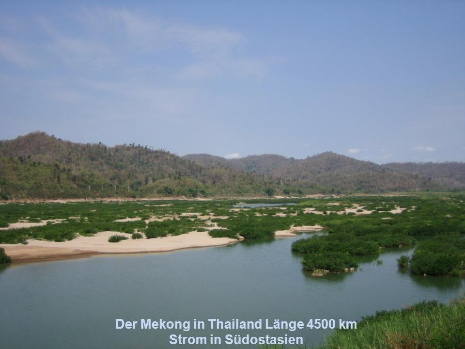 Der Jangtsekiang, Länge 6380 km längster Fluss Asiens, bekannt durch die Drei Schluchten