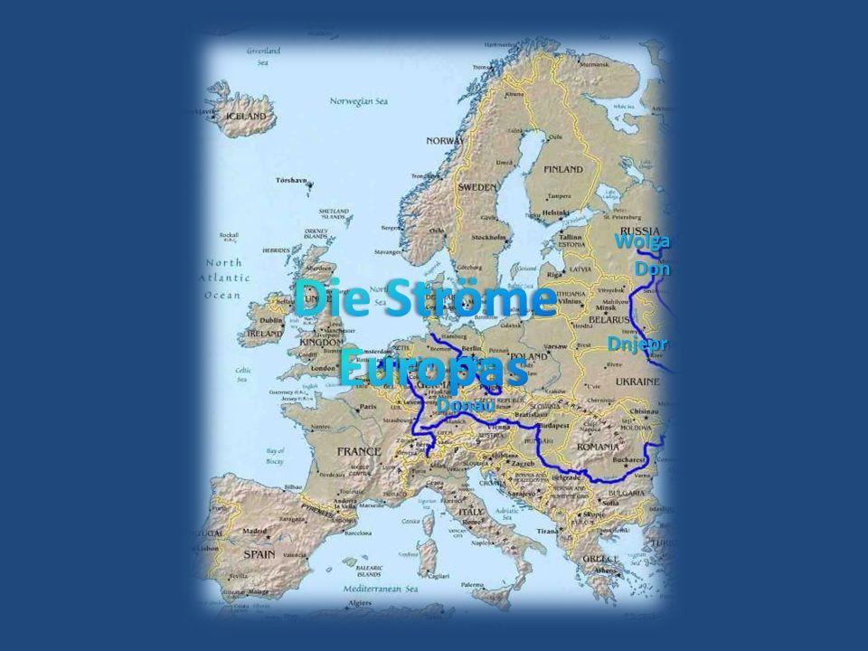 Der Euphrat, Länge 2736 km bildet mit Tigris das Zweistromland