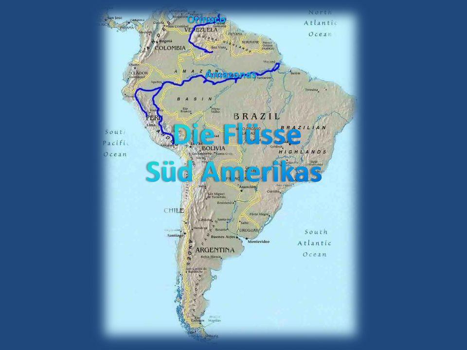 Der Mississippi- Missouri River, Länge 6051 km längstes Flussystem Amerikas durchquert nahezu das gesamte Staatsgebiet der USA von Nord nach Süd