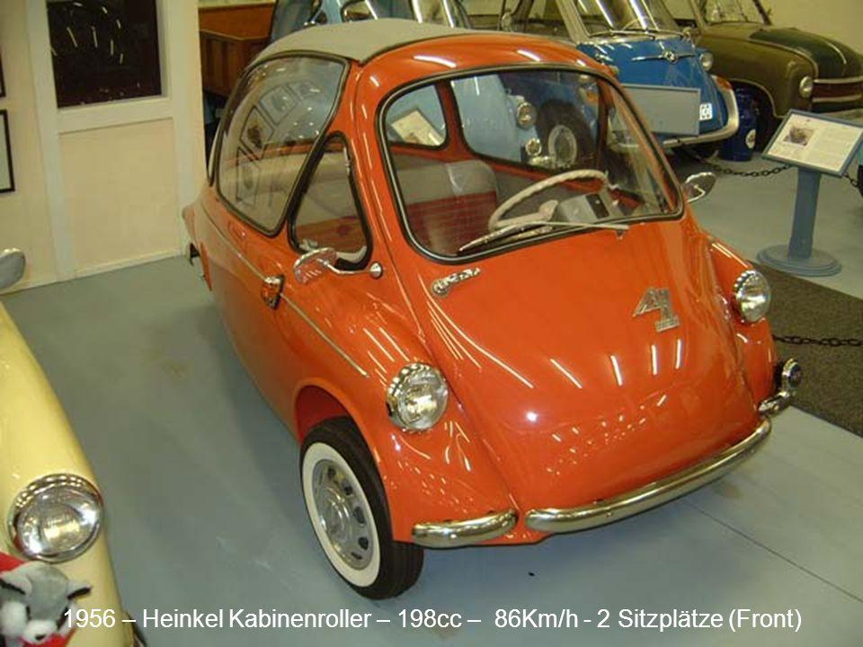 1958 – Zundapp Janus 250 248cc – 80Km/h 4 Sitzplätze (dos à dos)