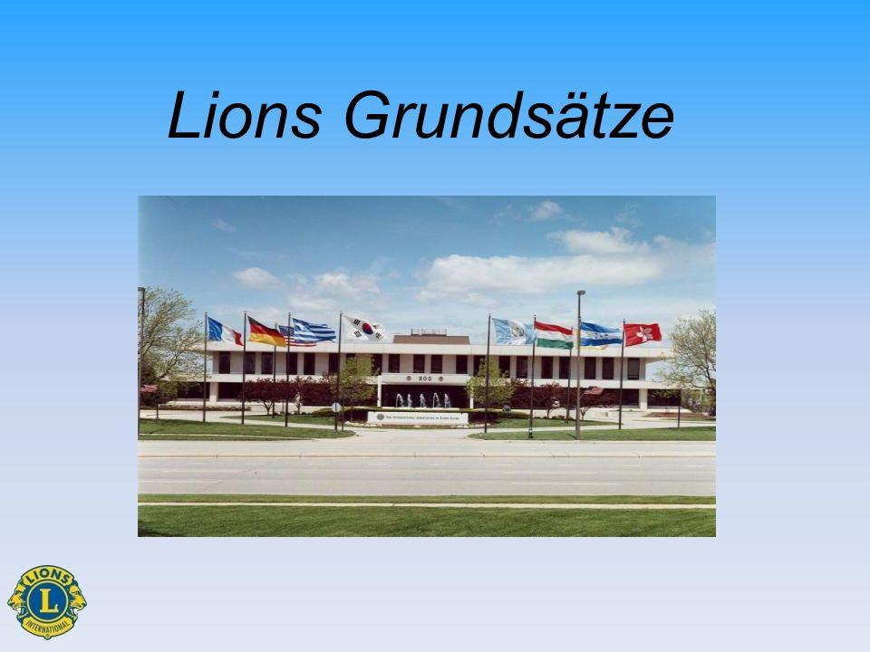 Schulungsziele Wichtige Ereignisse kennen Mission, Ziele und Ethische Grundsätze in Beziehung setzen Struktur der Vereinigung kennen Die Vorteile einer Mitgliedschaft beschreiben Lions Grundsätze1